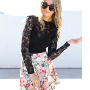 Sabo Skirt Tops - Long Sleeve Lace Top